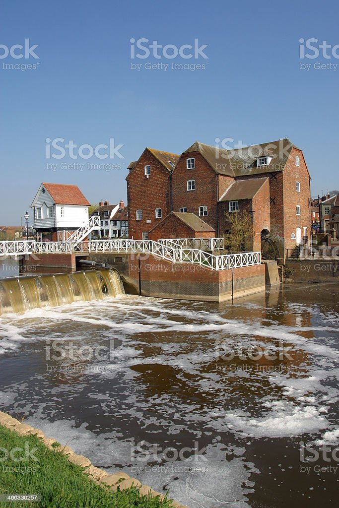 Picturesque Tewkesbury - restored mill buildings royalty-free stock photo