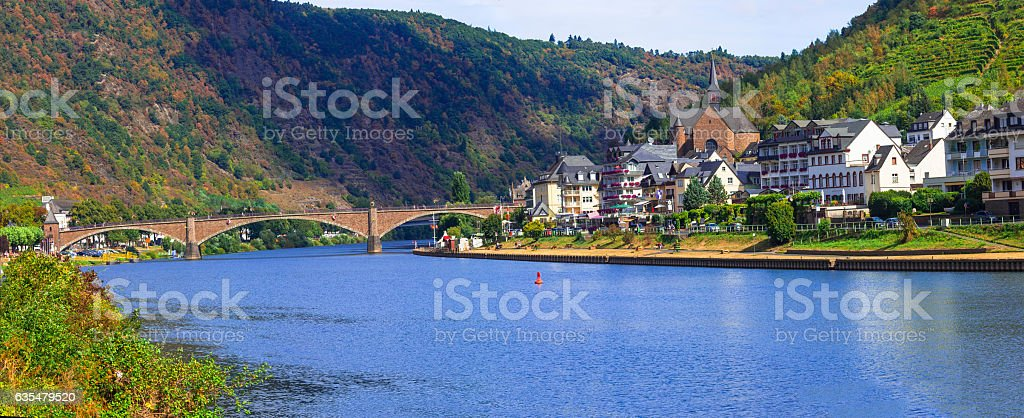 Picturesque town Cochem in Rhine river in Germany stock photo