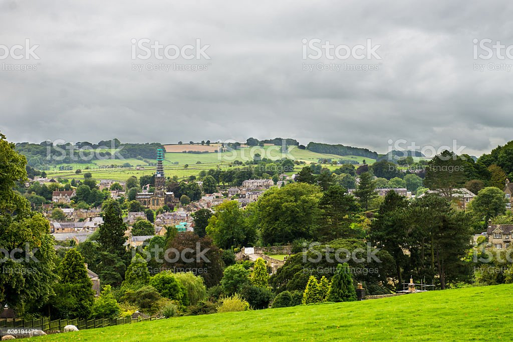 Picturesque View near Bakewell in Peak District National Park stock photo