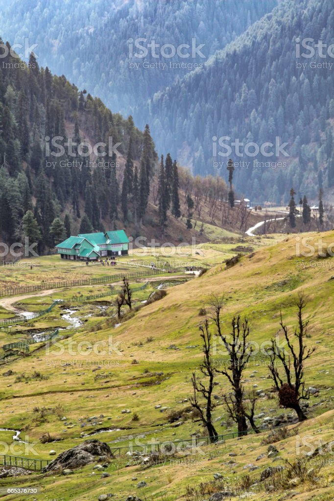 Picturesque view of Aru Valley Lanscapes near Pahalgam stock photo