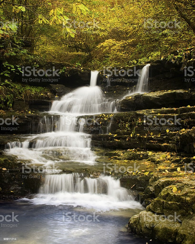Picturesque view of cascading Copperhead Falls  royalty-free stock photo