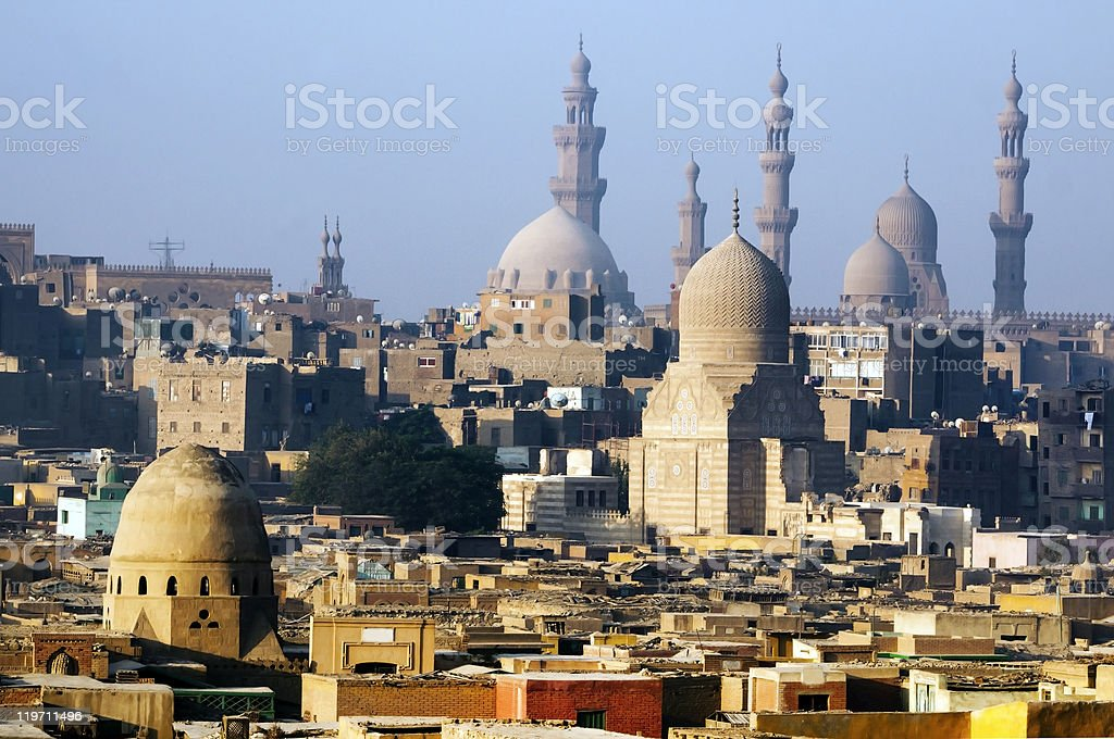 Picturesque view of hot sunny Cairo stock photo