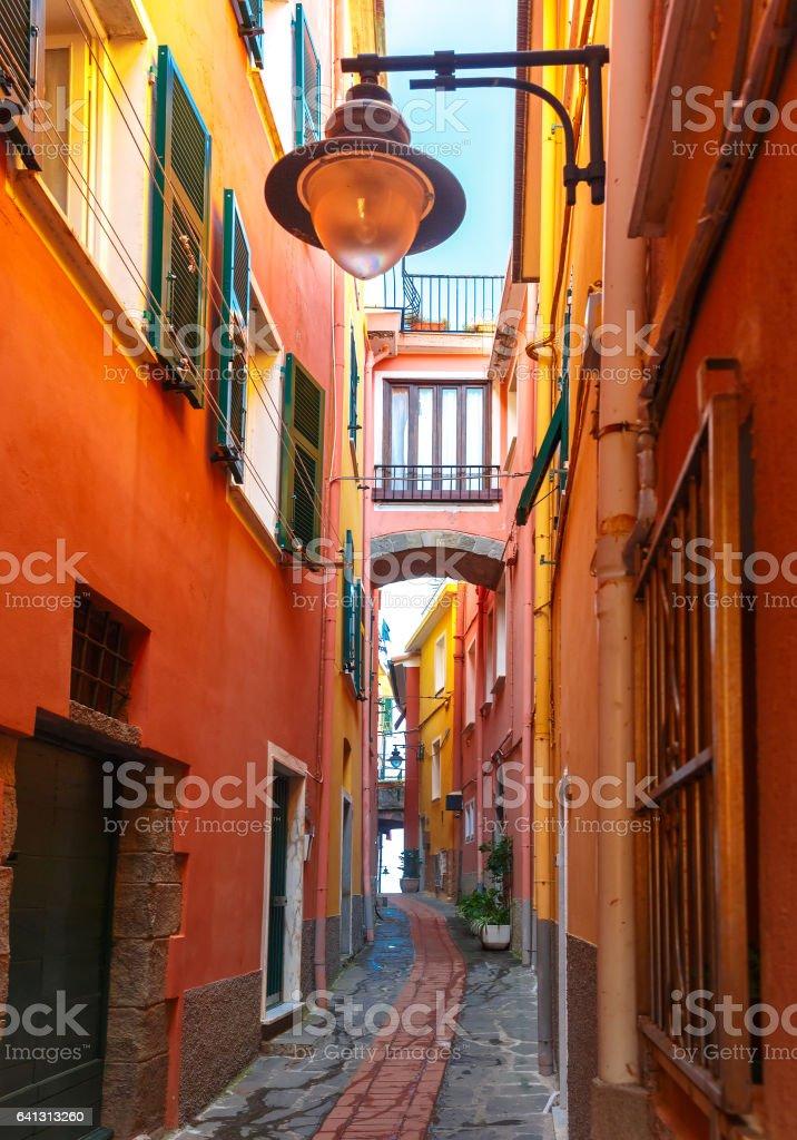 Picturesque view of Manarola, Liguria, Italy stock photo
