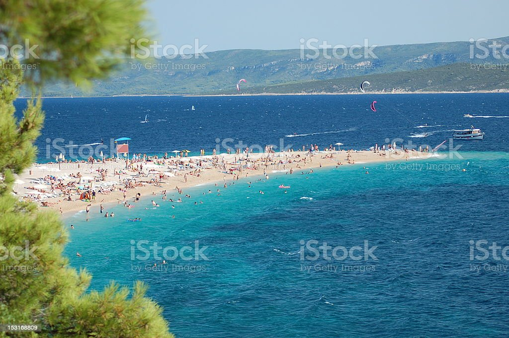 Picturesque view on Golden Cape, Croatia stock photo