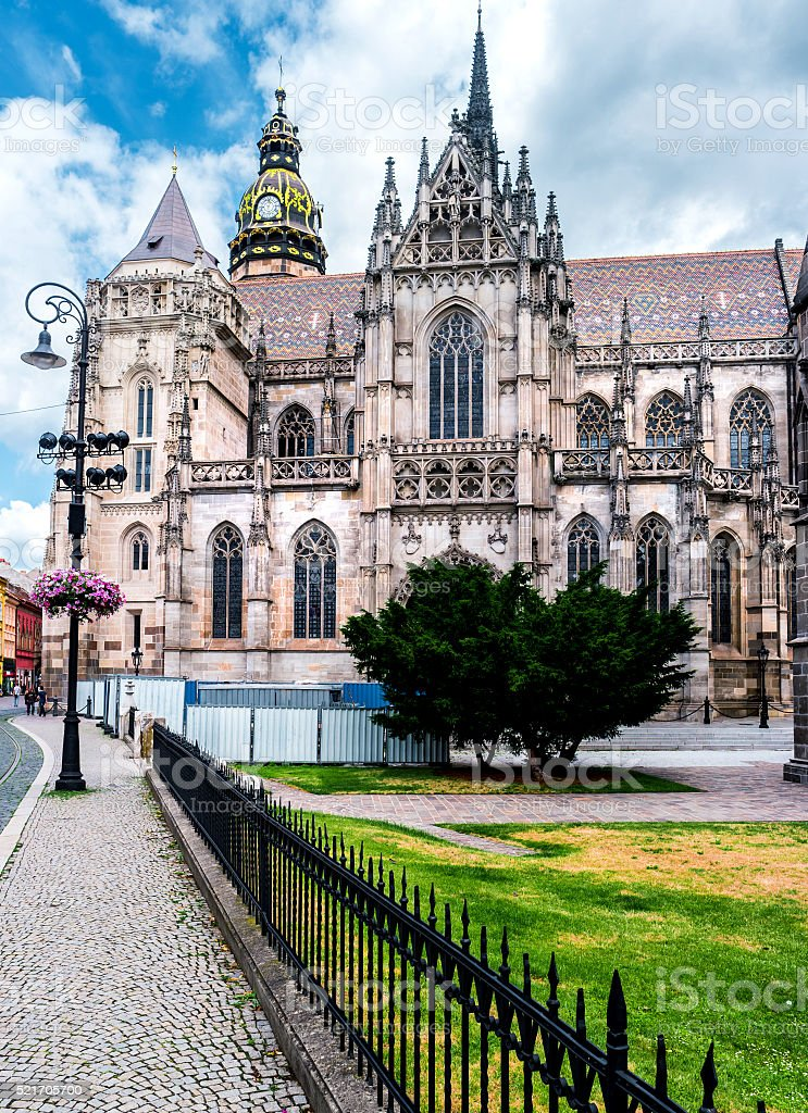 picturesque view on majestic St. Elisabeth Cathedral stock photo