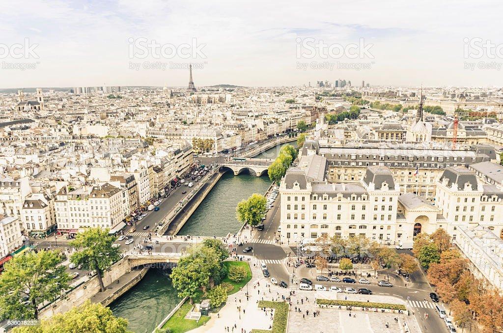 Picturesque view on Paris stock photo