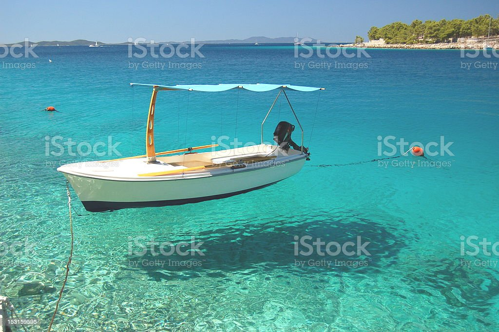 Picturesque view on quiet bay of Milna -Brac island, Croatia royalty-free stock photo