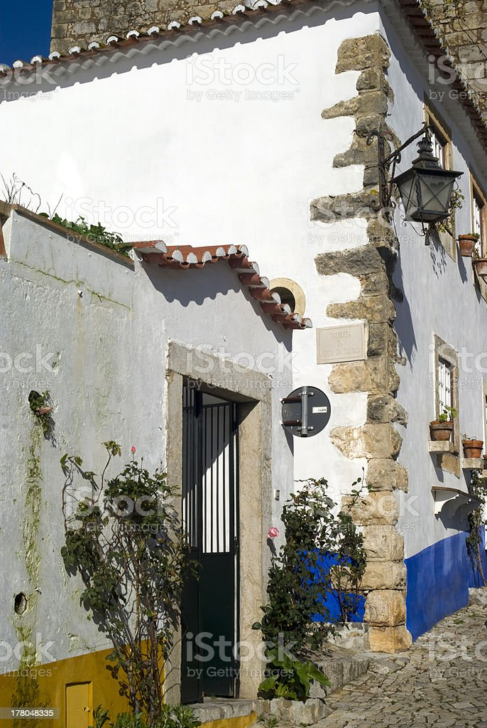 Picturesque village Obidos in Portugal stock photo