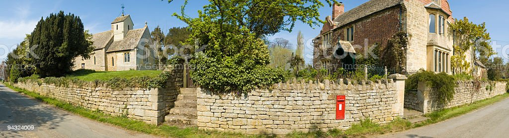 Picturesque village panorama royalty-free stock photo