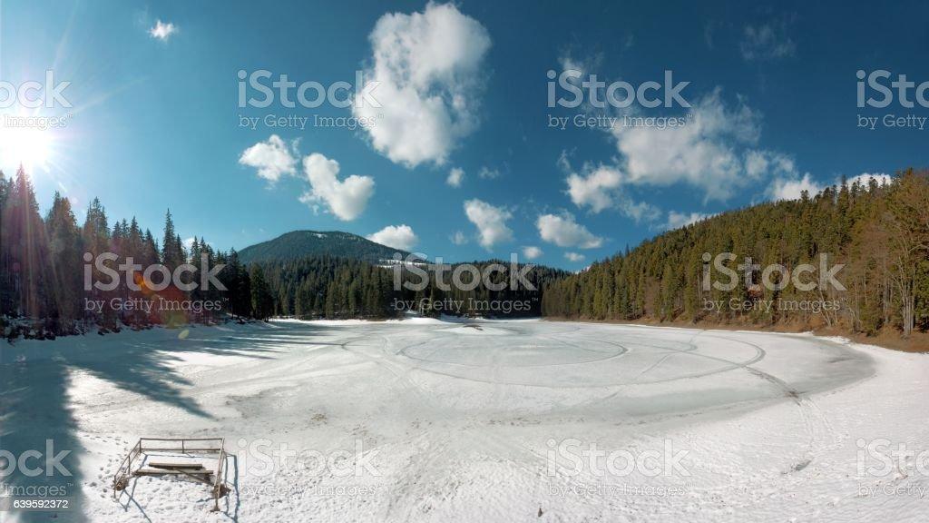 Picturesque winter landscape stock photo