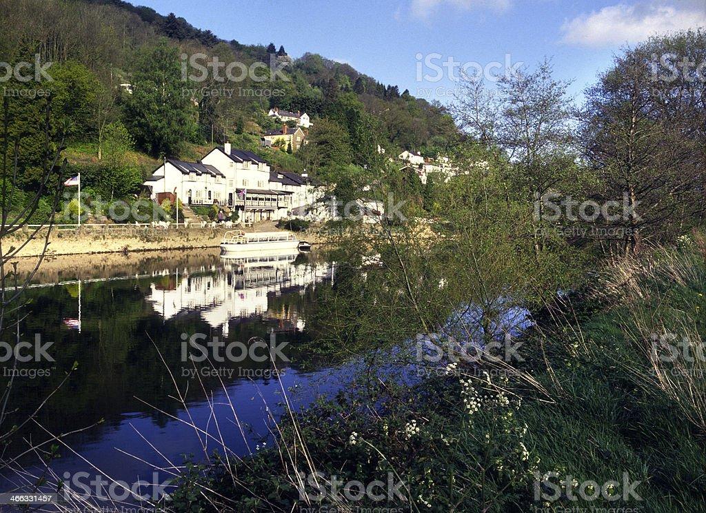 Picturesque Wye Valley - Symonds Yat stock photo