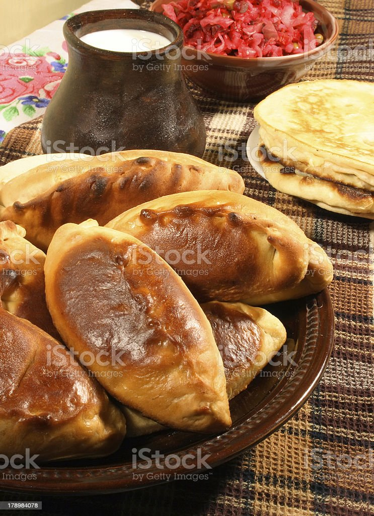 pie and pancake royalty-free stock photo
