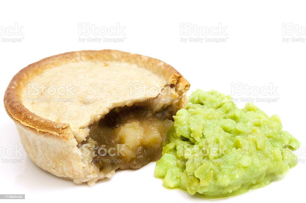 Pie and Peas royalty-free stock photo