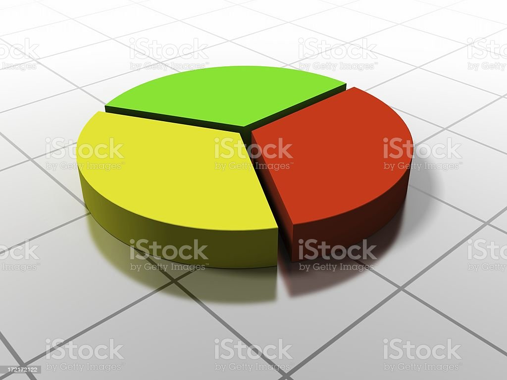 Pie Chart 3/3 royalty-free stock photo