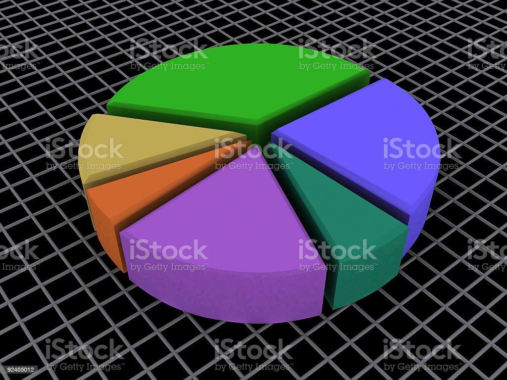 Pie Chart Cut (3D) royalty-free stock photo
