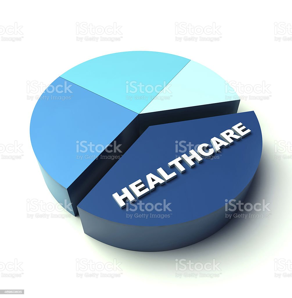 Pie chart healthcare royalty-free stock photo