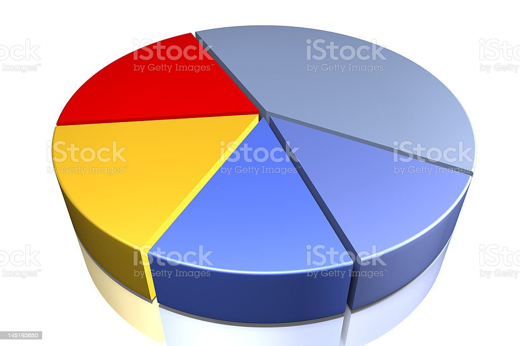 pie chart in different colors royalty-free stock photo