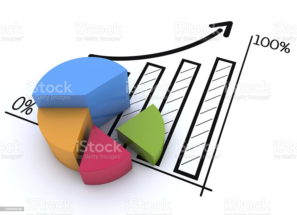 Pie Chart stock photo