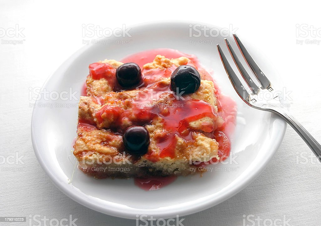 Pie, Cherry Cobbler III royalty-free stock photo