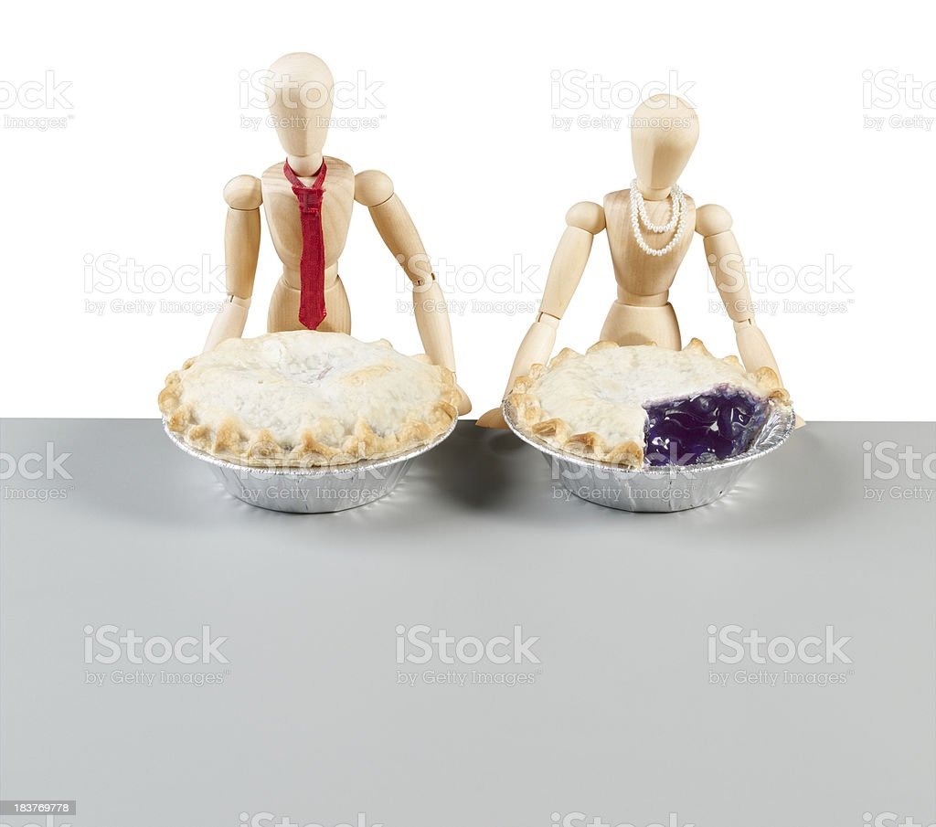 Pie Comparison stock photo
