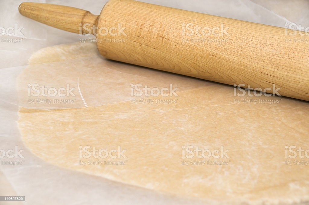 Pie Crust and Rolling  Pin stock photo