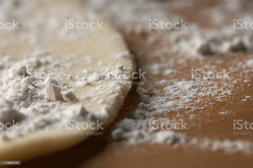 Pie Crust with Flour royalty-free stock photo