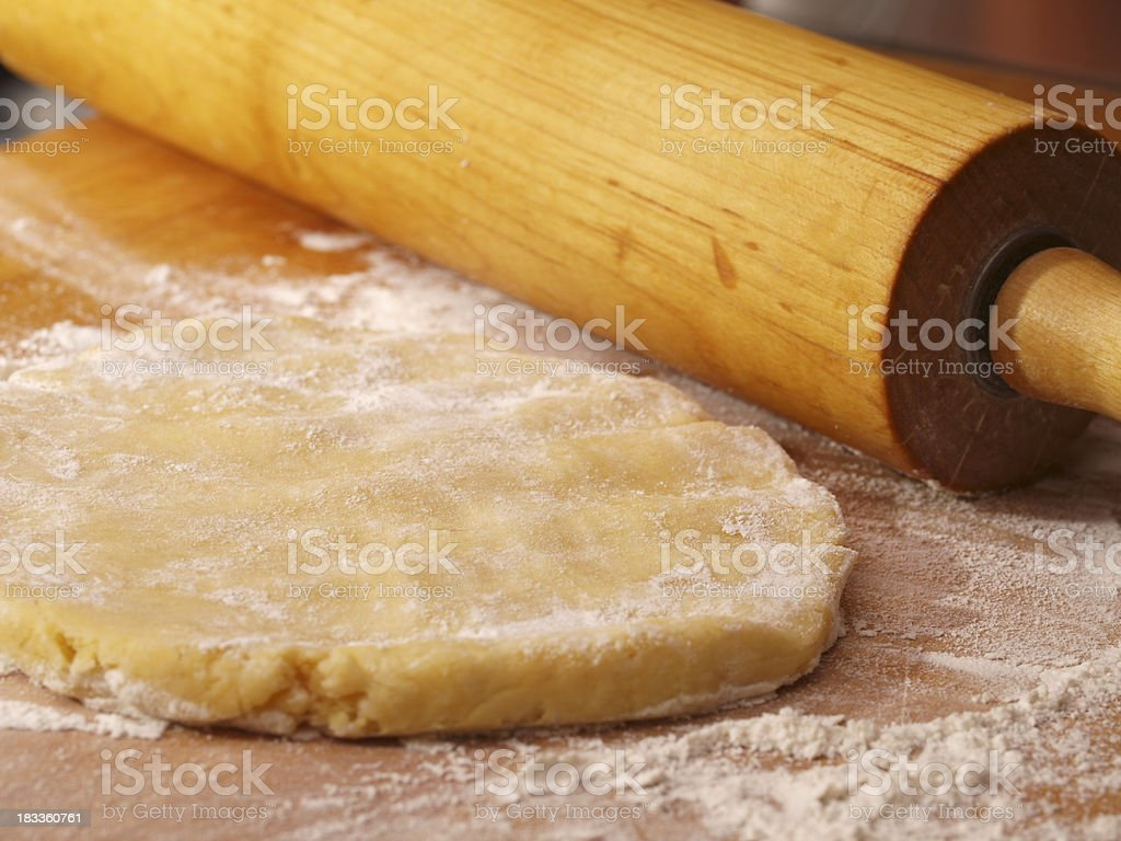 Pie Dough and Rolling Pin royalty-free stock photo