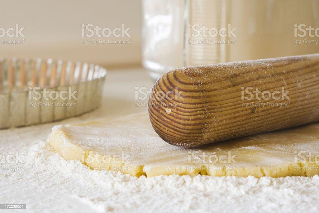 Pie Dough & Rolling Pin stock photo