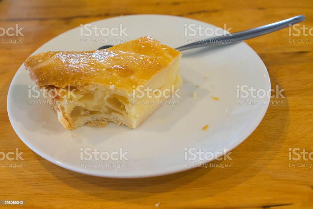 pie is a baked dish which stock photo