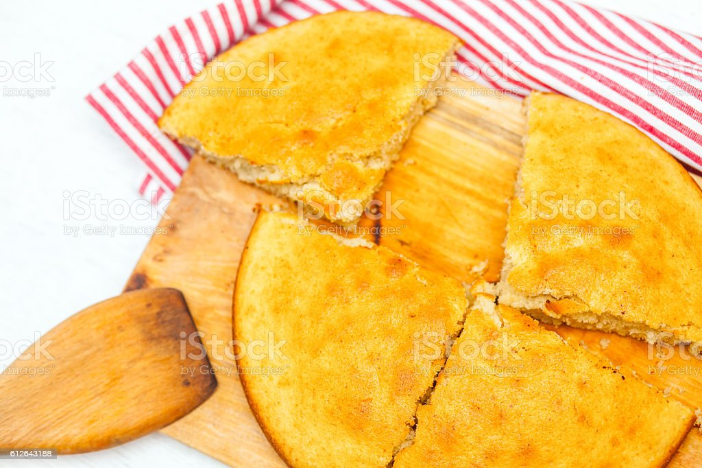 pie on a wooden board royalty-free stock photo