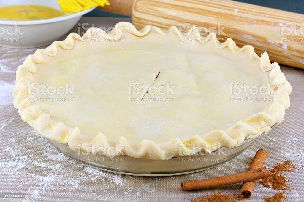 Pie Ready To Bake royalty-free stock photo