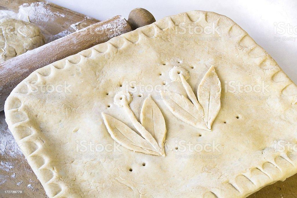 Pie Ready to Bake. stock photo
