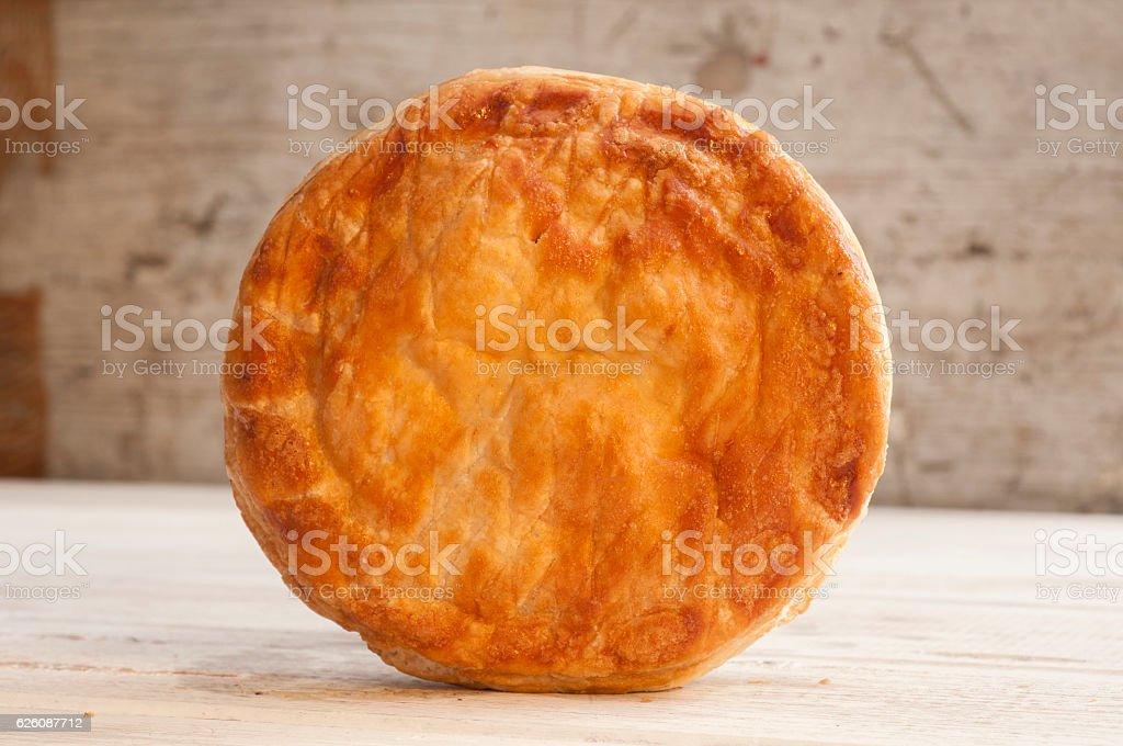 Pie Standing Sideways stock photo