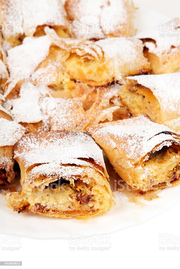 Pie, Strudel royalty-free stock photo
