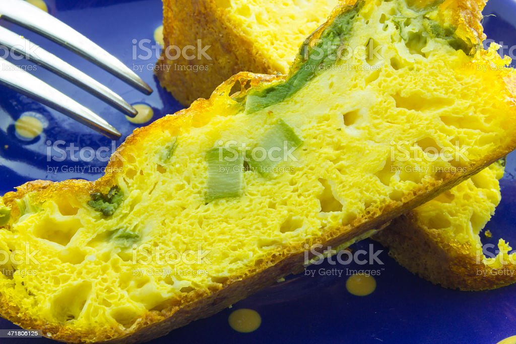 Pie with asparagus royalty-free stock photo