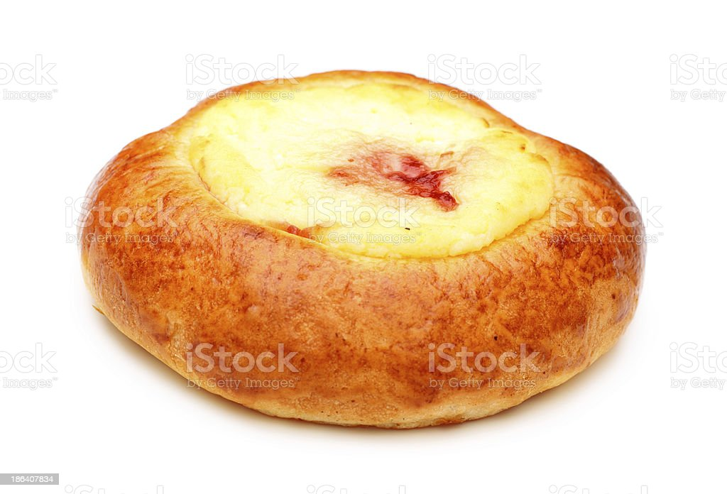 Pie With Curds Filling royalty-free stock photo