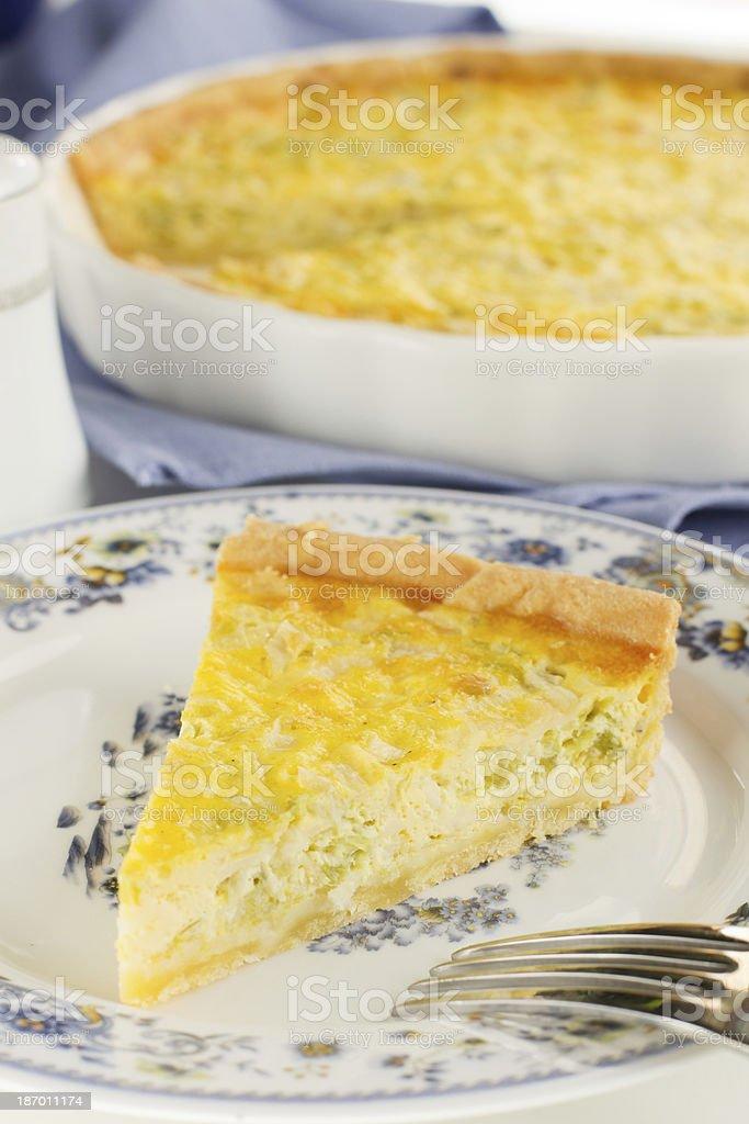 Pie with leek. royalty-free stock photo