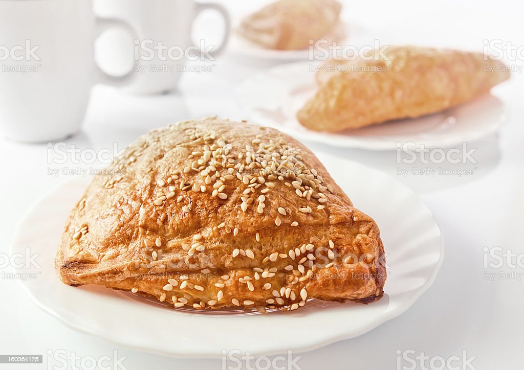 pie with sesame royalty-free stock photo