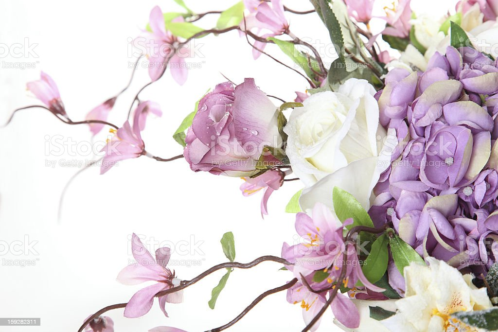 piece floral arrangement of artificial flowers royalty-free stock photo