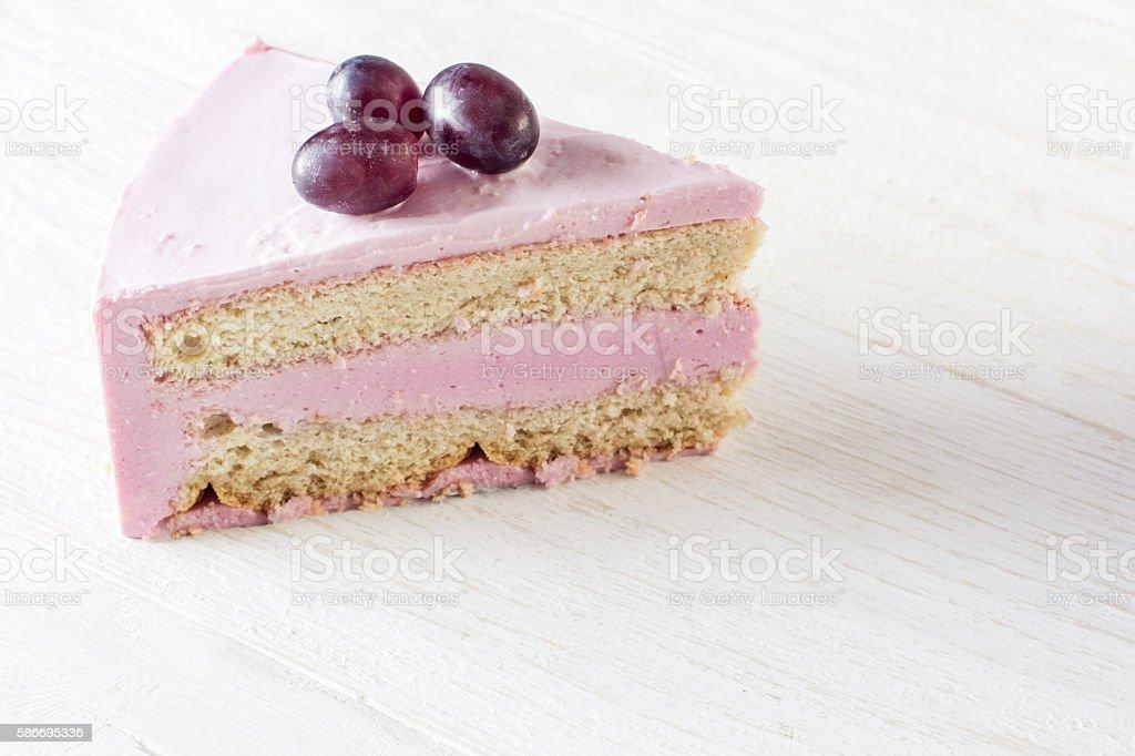 Piece fruit cheesecake stock photo