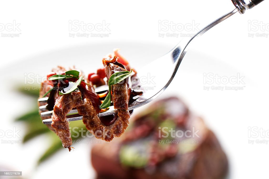 Piece of a grilled steak stock photo