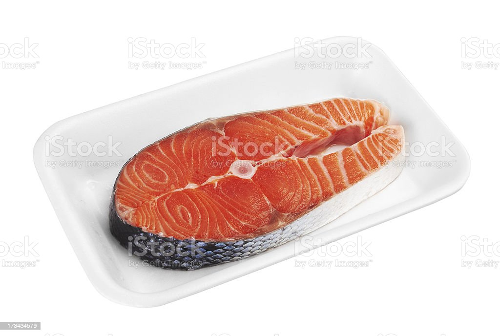 Piece of a salmon royalty-free stock photo