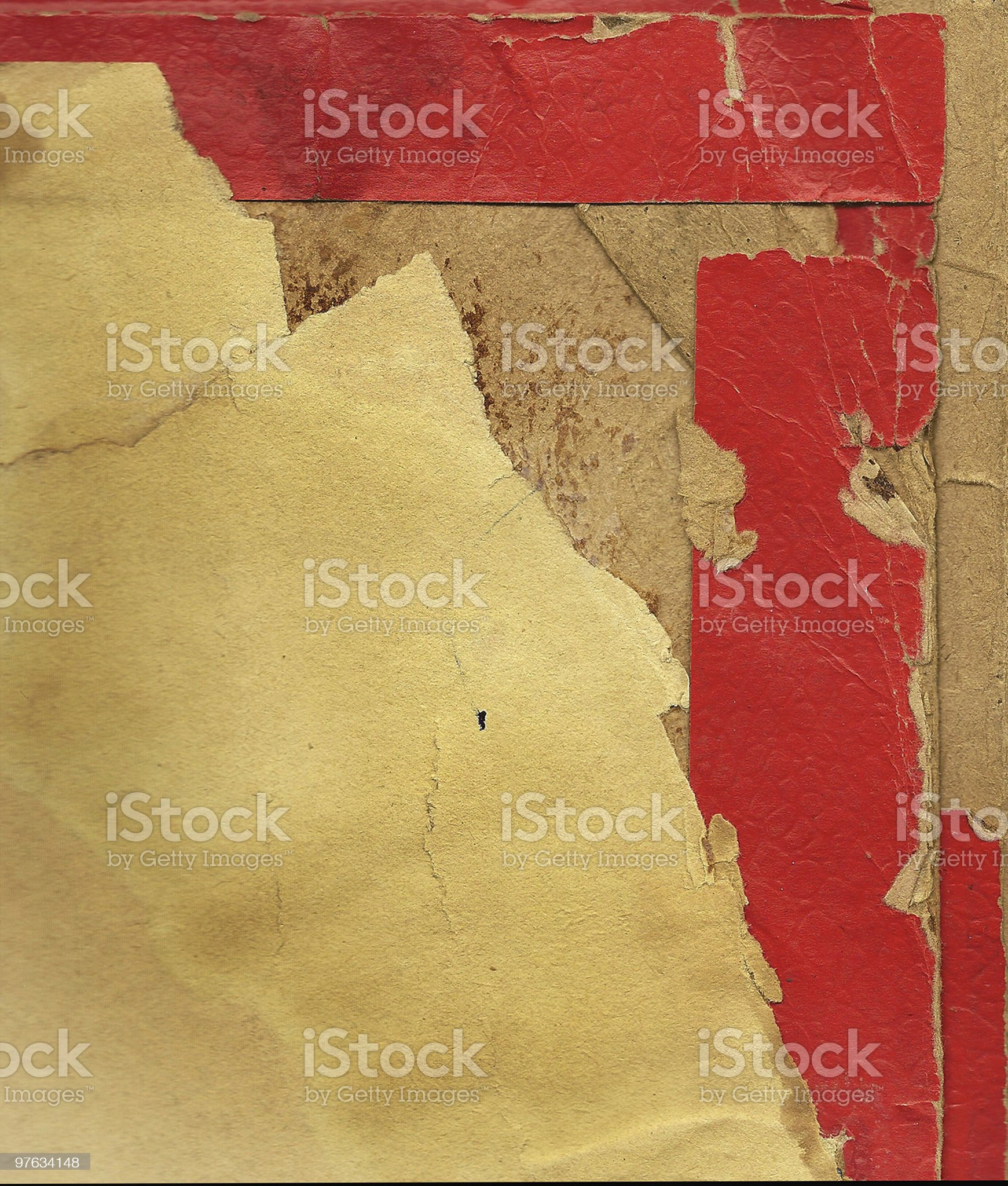 Piece of an old cardboard royalty-free stock photo
