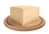 piece of Asiago cheese
