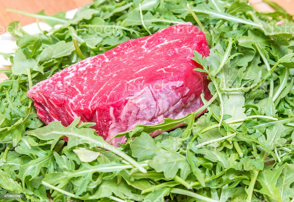 Piece of beef fillet stock photo