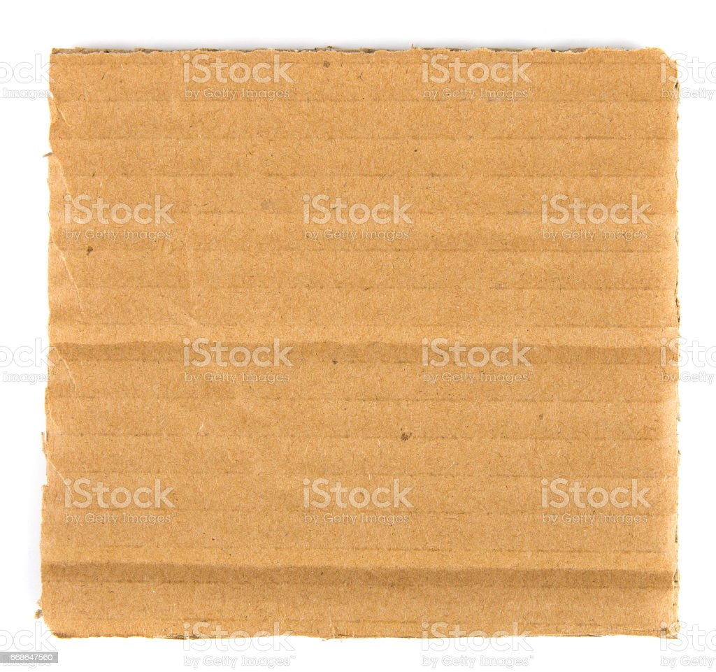 Piece of blank cardboard stock photo