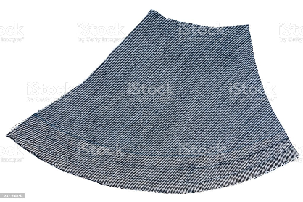 Piece of blue jeans fabric stock photo