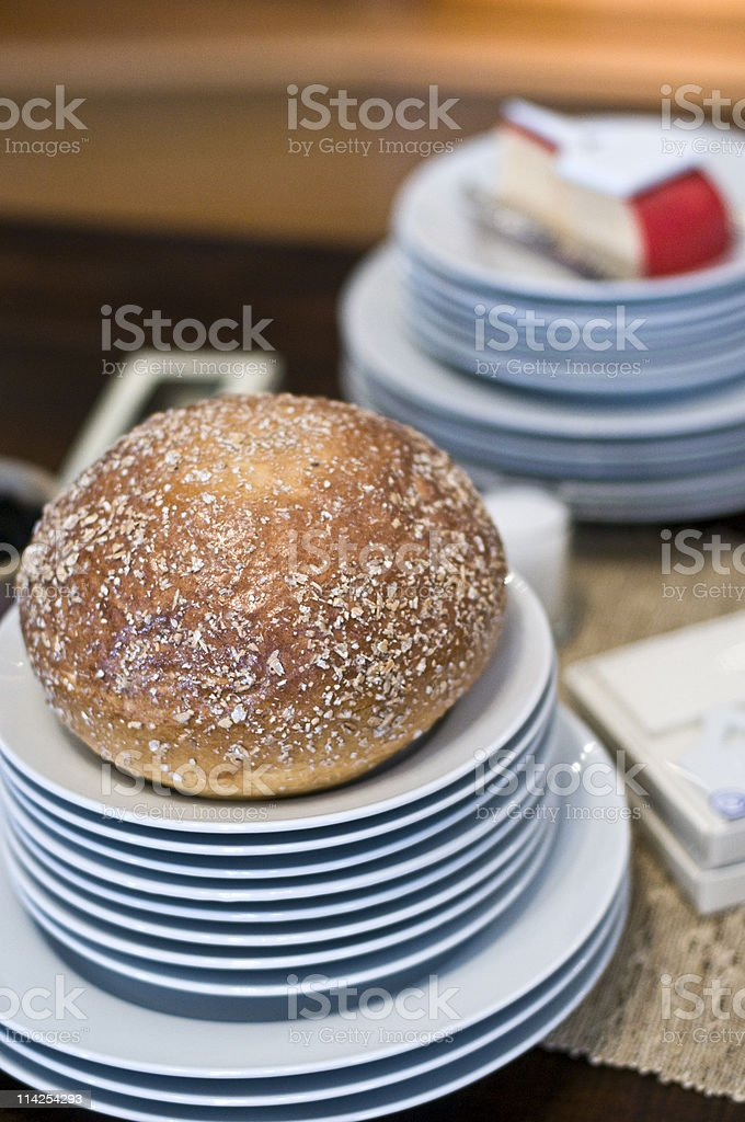 Piece of Bread royalty-free stock photo