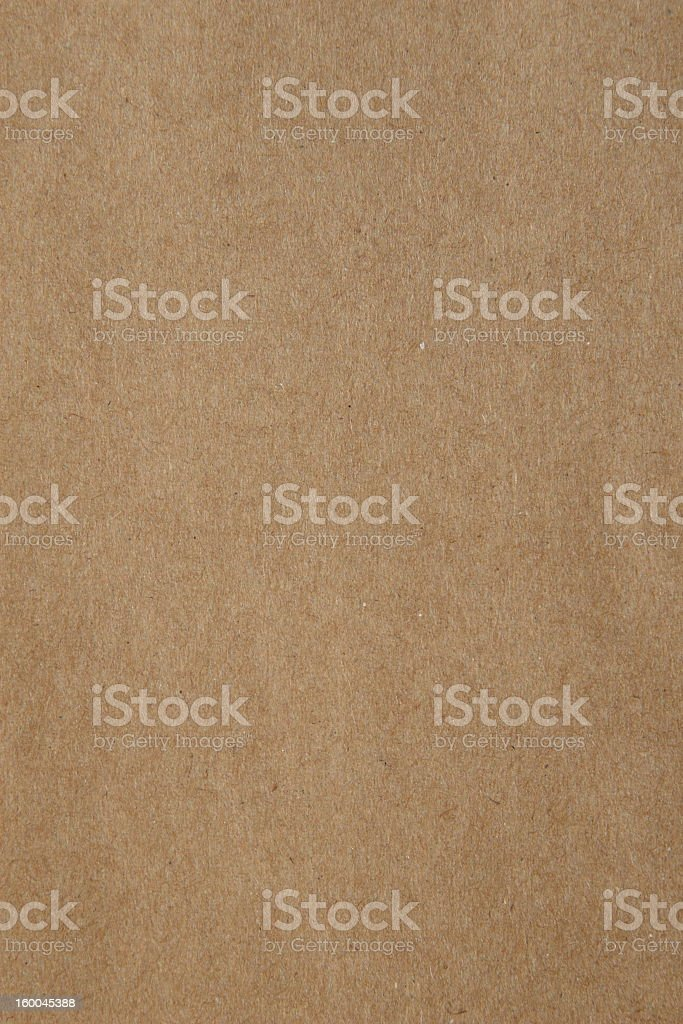 A piece of brown cardboard background stock photo
