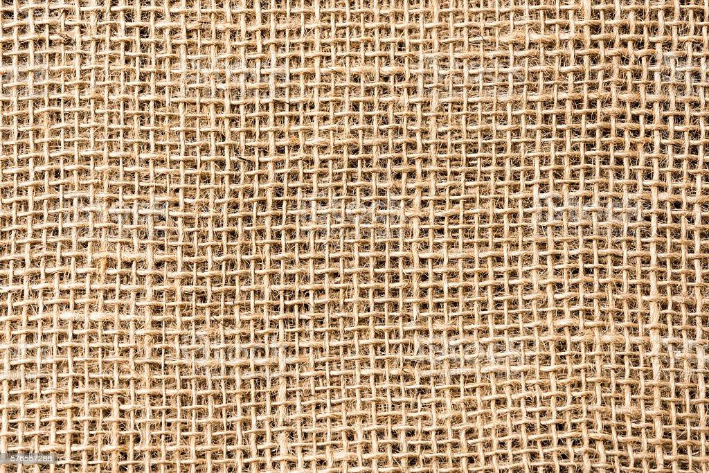 Piece of Burlap textile background textured stock photo